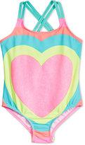 Carter's 1-Pc. Glitter-Heart Swimsuit, Little Girls (2-6X)