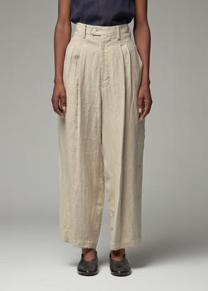 Y's by Yohji Yamamoto Women's Pleated Tuck Pant in Beige Size 2