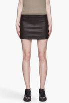 6397 Black Stretch Leather classic mini Skirt