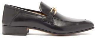 Gucci Phyllis Leather Loafers - Mens - Black