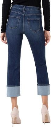 Liverpool Sadie High Waist Cuffed Straight Leg Crop Jeans