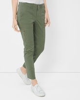 White House Black Market Slim Crop Pants with Utility Details