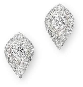 Bloomingdale's Pavé Diamond Solitaire Earrings in 14K White Gold, 0.60 ct. t.w. - 100% Exclusive