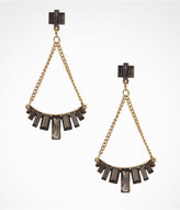 Express Baguette Embellished Trapeze Earrings