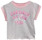 Converse Grey Sleeveless Crop Sweatshirt