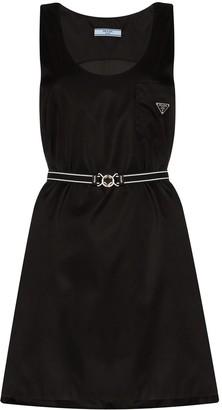 Prada Logo Plaque Mini Dress
