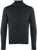 Zanone knitted roll neck jumper