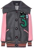 Miu Miu Oversized virgin wool bomber jacket