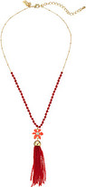 Kate Spade Lovely Lillies Tassel Mini Pendant Necklace