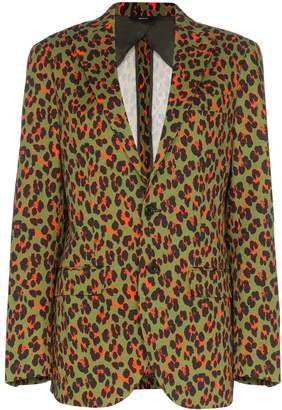R 13 x Alison Mosshart cheetah print blazer
