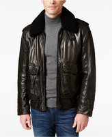 Andrew Marc Men's Anchorage Leather Aviator Jacket