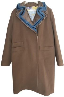 Saks Potts Camel Cashmere Coat for Women