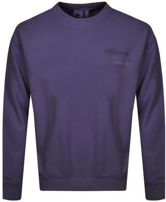adidas Overdyed Sweatshirt Purple