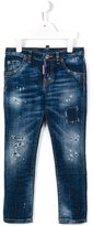 DSQUARED2 distressed jeans - kids - Cotton/Spandex/Elastane - 10 yrs