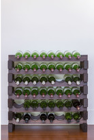 6 Layers of 8 Bottles Wine Rack Finish: Stained