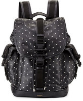 Givenchy Men's Cross-Print Leather Backpack, Black