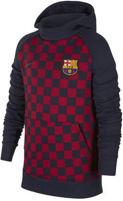 Nike Big Boys Fc Barcelona Club Team Fleece Hoodie