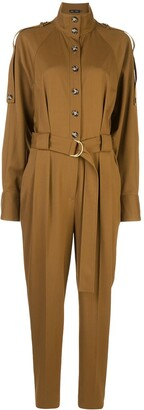 Proenza Schouler High Collar Buttoned Jumpsuit