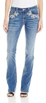 Miss Me Women's Too Cool Blue Mid-Rise Skinny Jeans