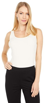 Lauren Ralph Lauren Ribbed Stretch Cotton Tank Top (Mascarpone Cream) Women's Sleeveless