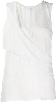 Patrizia Pepe sleeveless draped blouse