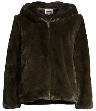 Apparis Chase Crop Faux Fur Jacket