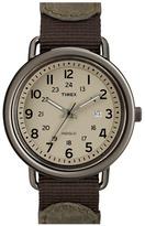 Timex 'Camper' Leather & Nylon Strap Watch
