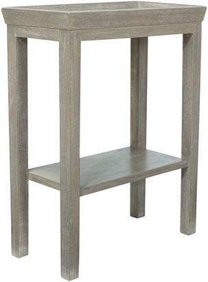 OKA Gustavian Wooden Sofa Side Table - Silver Birch