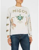 MIGOS Logo-print cotton-jersey sweatshirt