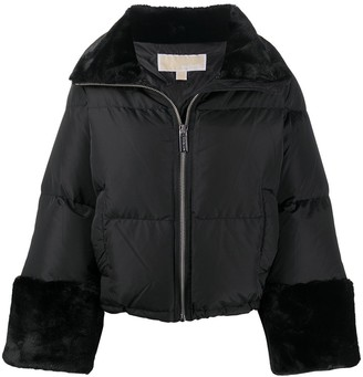 MICHAEL Michael Kors Faux-Fur Trim Down Jacket