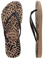 Havaianas Slim Animals Rose Gold/Black
