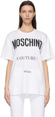 Moschino White 'Couture!' T-Shirt