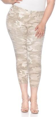 SLINK Jeans Camo Print Twill Skinny Pants (Plus Size)