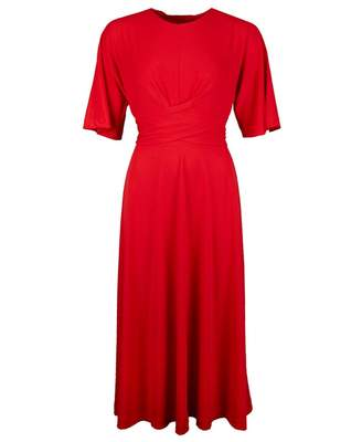 Ted Baker Cross Over Wrap Midi Dress Colour: BRIGHT RED, Size: 8