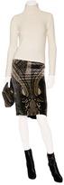 Etro Beige/Black Velvet Skirt