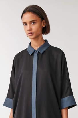 Cos COLOUR-BLOCK SHIRT DRESS