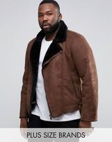 Barney's Originals Barneys Plus Faux Shearling Biker Jacket