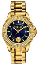 Versus By Versace Women's SGM270015 Tokyo Crystal Analog Display Quartz Gold Watch