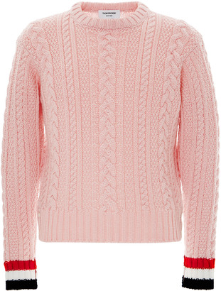 Thom Browne Classic Cable-Knit Merino Wool Sweater