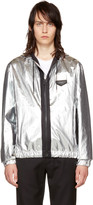 Givenchy Silver Hooded Windbreaker