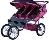 Pink Triple Jogging Stroller