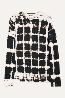Proenza Schouler Tie-dyed Cotton-jersey Top - Black