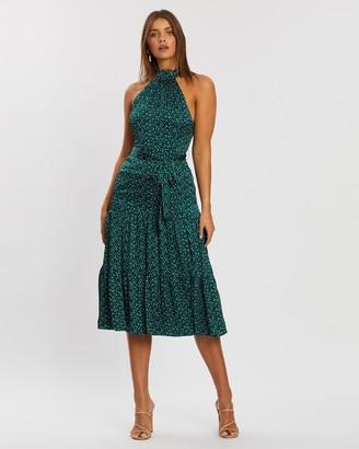 Atmos & Here Rebecca Halter Neck Maxi Dress