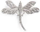 Kenneth Jay Lane Glass crystal dragonfly brooch