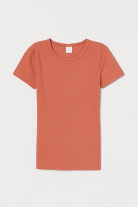 H&M Ribbed cotton T-shirt