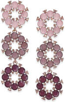 INC International Concepts Rose Gold-Tone Purple Stone Triple-Drop Earrings, Created for Macy's