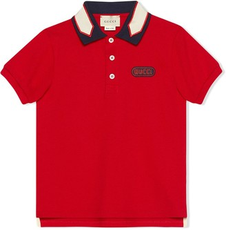 Gucci Kids Children's polo with Gucci patch