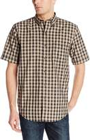 Arrow Men's Short Sleeve Seaside Textured Gingham Shirt