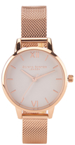 Olivia Burton Women's Rose Gold Mesh Bracelet Watch Rose Gold