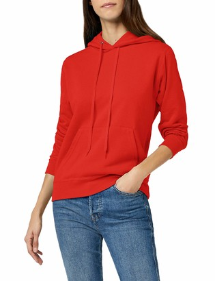 Fruit of the Loom Lady Fit Hooded Sweatshirt Red L